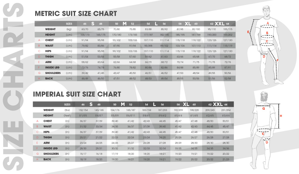 Sparco Racing Suits Size Chart Suit Size Chart