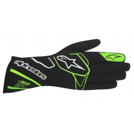 Alpinestars Tech 1-K Gloves - black / green fluo