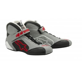 Alpinestars Tech1-T Shoe - Gray / Black / Red