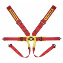 Sabelt Formula Harness (FIA Approved) Aluminum Adjuster, 6-point, 3 Inch Shoulder Straps, 2 Inch Lap Straps, Pull Down Lap Adjustment, Bolt in, Short Lever