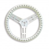 Longacre 14 Inch Natural Aluminum Non Coated Steering Wheel Drilled