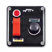 Longacre ABS CF Flip Up Start Ign w/Pilot Light