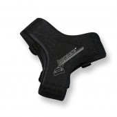 Longacre High Density Black Steering Wheel Nose Pad w/Logo