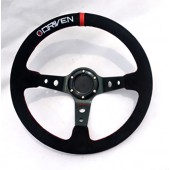 Driven 13.5 Inch Dished Aluminum Steering Wheel