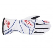 Alpinestars 2016 TECH 1-K GLOVES - silver / blue / red