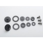 Bell Racing SV (SE03/SE05) PIVOT KIT & SCREWS BLACK HELMET PART Black