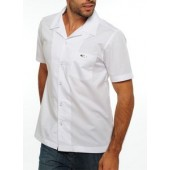 "Oakley Short Sleeve Button Down Top- True Fit - White *Actual shirt has ""Oakley"" spelled out instead of the ""O"""