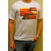 425 Motorsports Sunset Tee Shirt- White