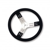 Longacre 15 Inch Aluminum Steering Wheel Black Smooth