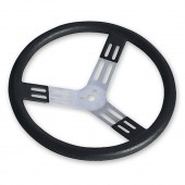 Longacre 17 Inch Aluminum Steering Wheel Black Smooth