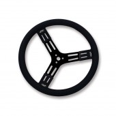 Longacre Black Steel Steering Wheel Smooth 17 in