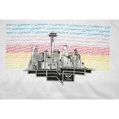 425 Motorsports Drift Seattle Cityscape Men's T-Shirt