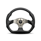 MOMO EAGLE STEERING WHEEL - AIR LEATHER - 350MM