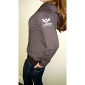 425 Motorsports Women's Small Stripes Zip Up Hoodie - Black / Charcoal