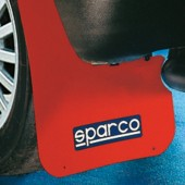 Sparco MUD FLAP PAIR Red