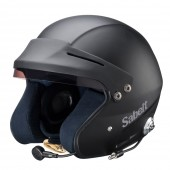 Sabelt Helmet RH-310 Snell SA2010 Rated w/ Intercom - Black Front