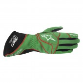 Alpinestars 2016 TECH 1-KX GLOVES - green / red / white