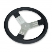 Longacre 13 Inch Black Aluminum Karting Steering Wheel Smooth