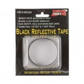 "ISC Racers Tape BLACK REFLECTIVE TAPE, 1"" x 24"" strip and 1/2"" x 24"" strip"